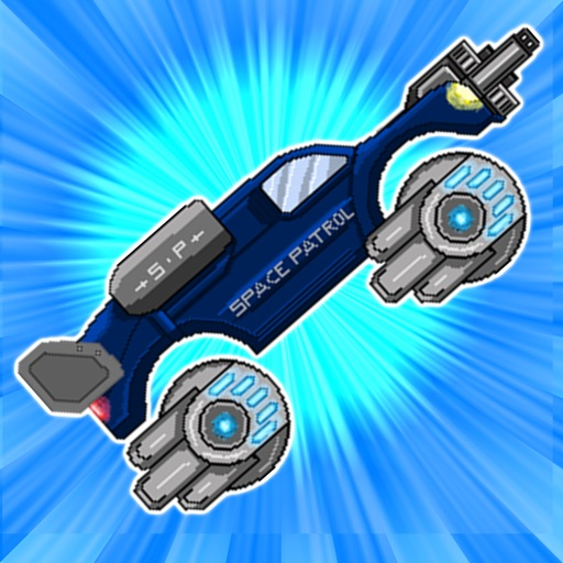 Retro Shooting Monster Truck In Space Racing Game