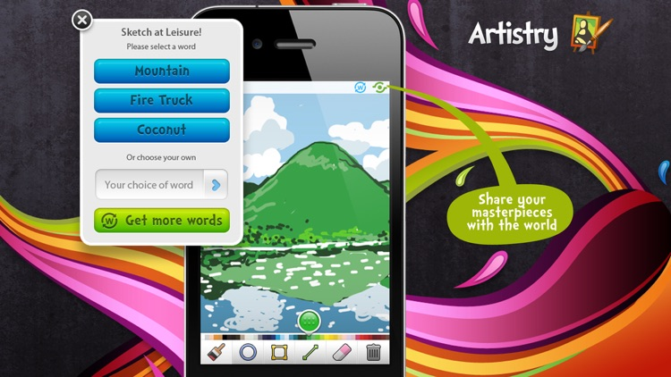 Sketch W Friends ~ Free Multiplayer Online Draw and Guess Friends & Family Word Game for iPhone screenshot-3