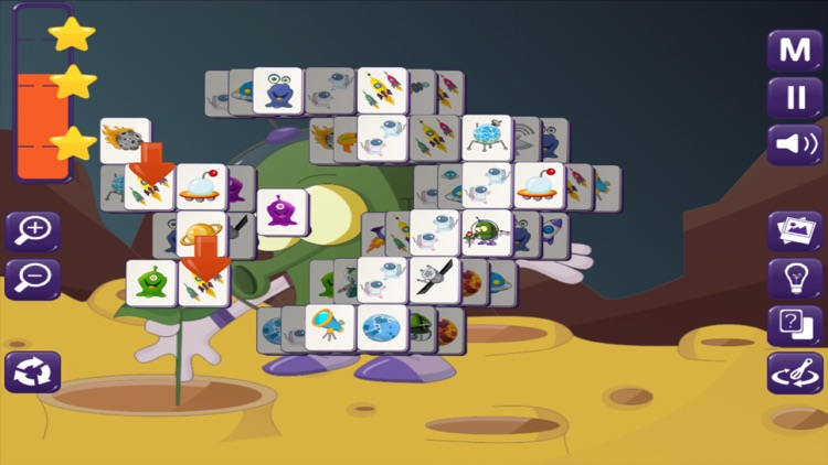 Space Mahjong Free screenshot-3