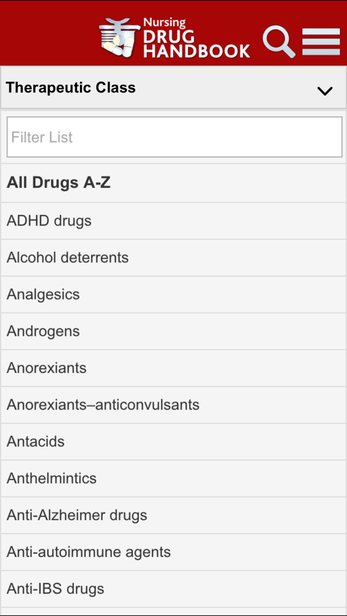 Nursing Drug Handbook Screenshot
