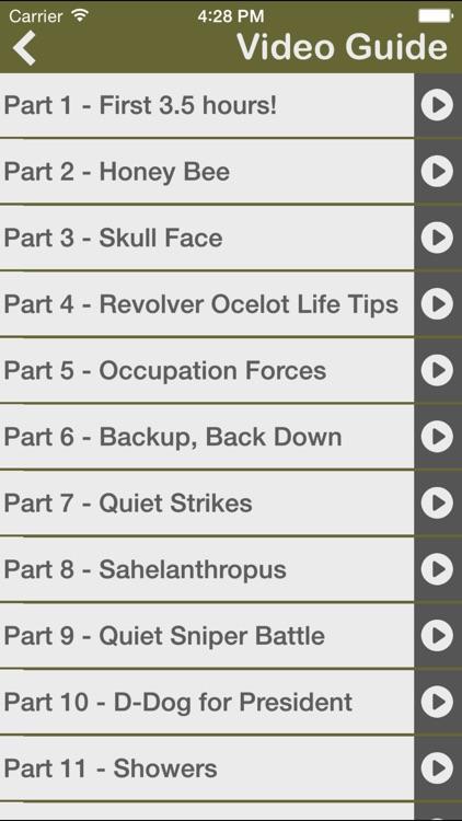 Gamer's Guide for Metal Gear Solid V screenshot-4