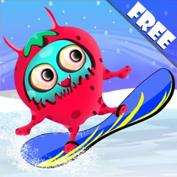 Barry the Berry Snow Monster : The Winter Fun Ski Race
