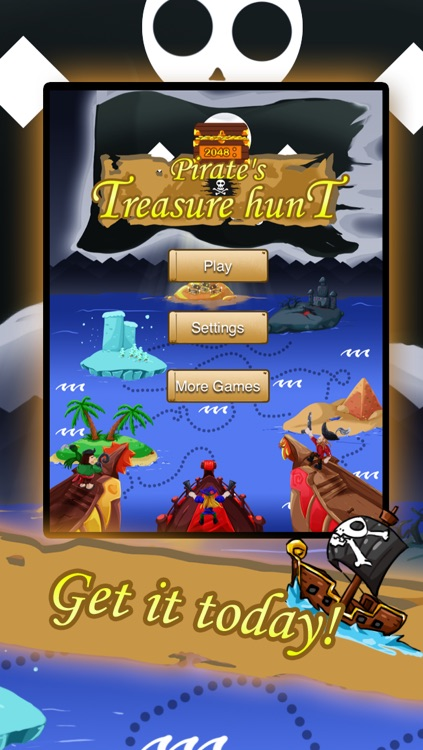 2048: Pirate's Treasure Hunt FREE screenshot-4
