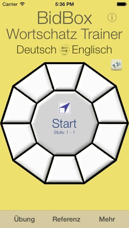 Vocabulary Trainer: German - English