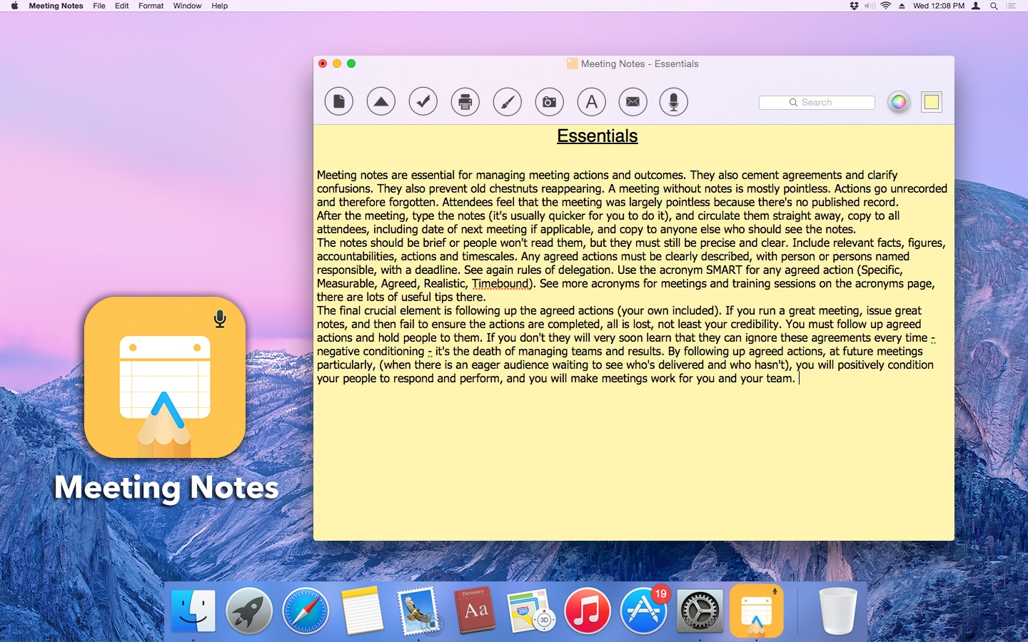 ‎Meeting Notes on the Mac App Store