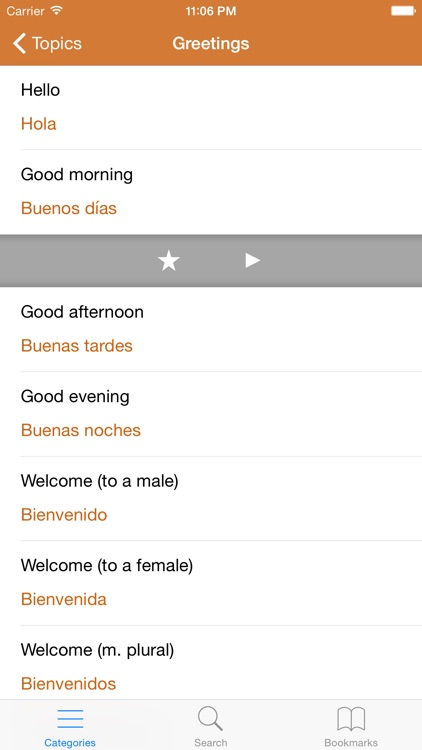 Spanish Phrasebook: Conversational Spanish screenshot-2