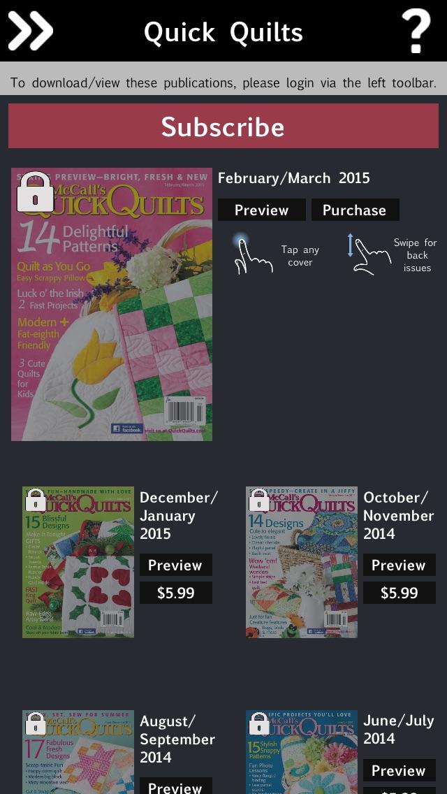 McCall's Quick Quilts Magazine Screenshot