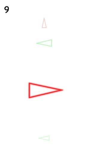 Triangles - Swipe Red & Green Neon Signs in Right Direction on the