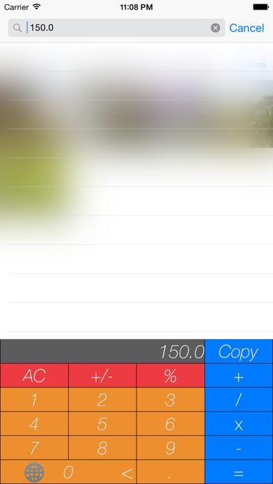 KeyCalc - Keyboard Calculator screenshot one