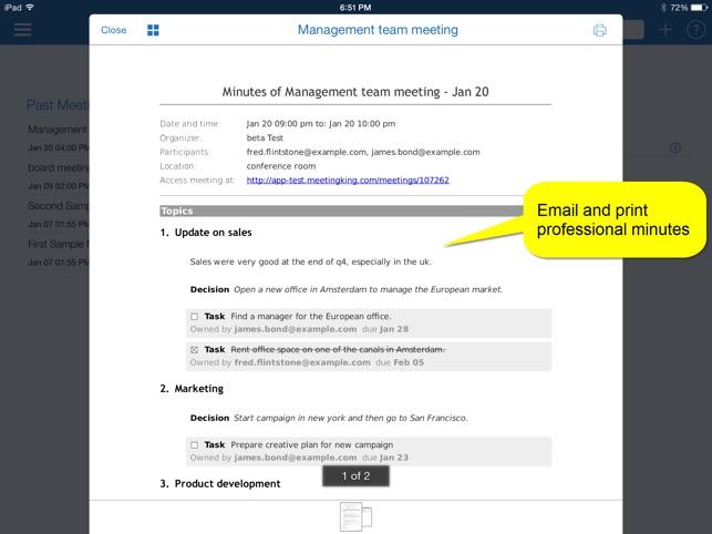 virtual meeting agenda template