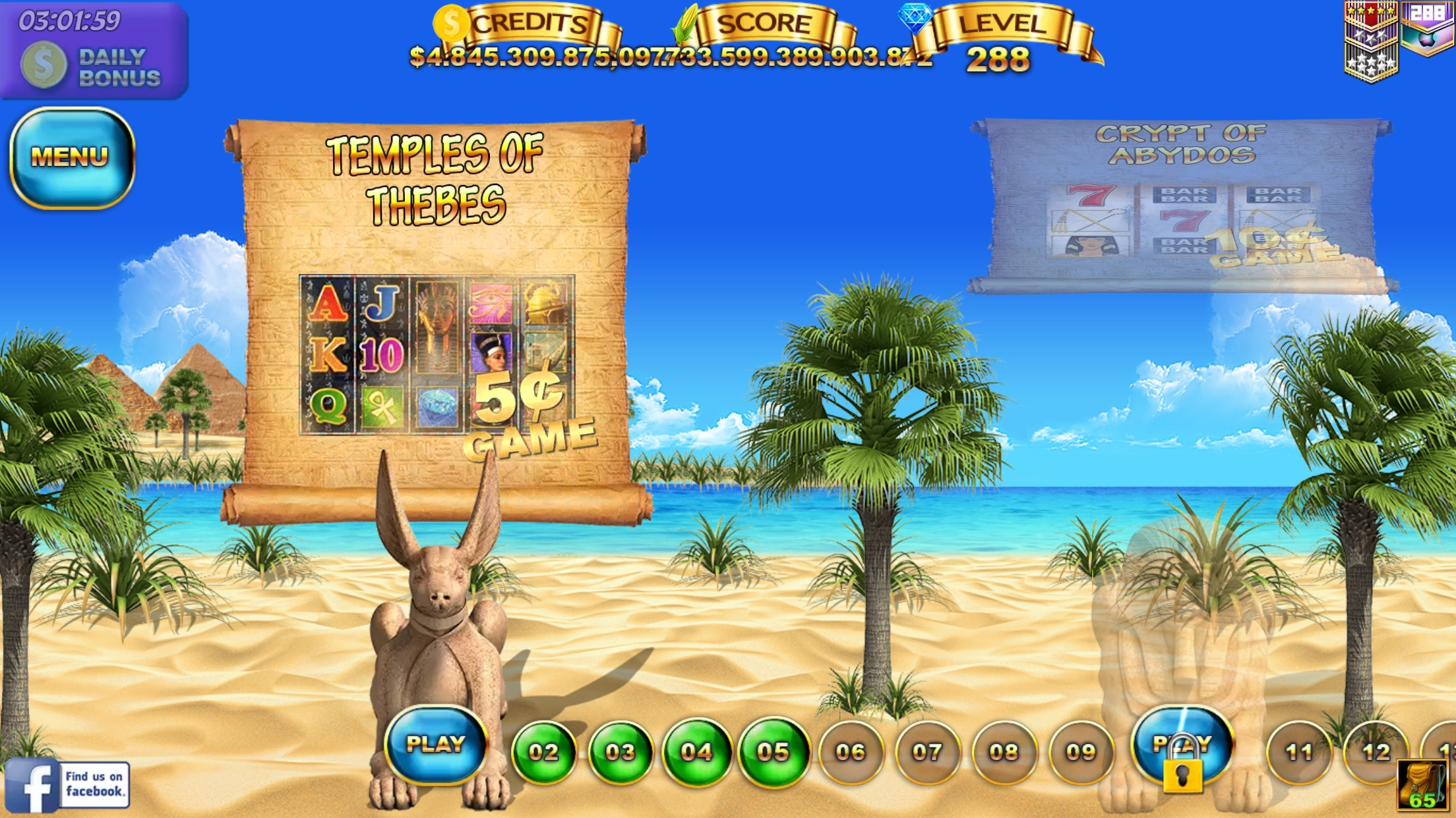 Slots - Pyramid Spirits 3 Screenshot
