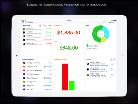 Goods Inventory Pro : for Manufacturer with multi location inventory-ipad-0