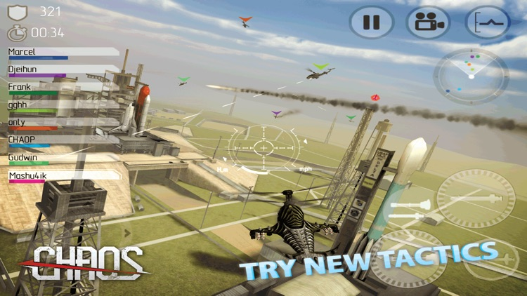 CHAOS Combat Copters -‐ #1 Multiplayer Helicopter Simulator 3D screenshot-3