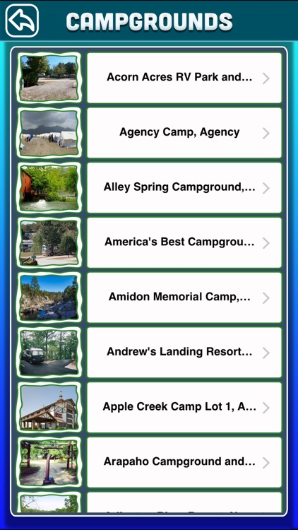 Missouri Campgrounds & RV Parks