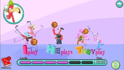 Screenshot of English for Kids – Mingoville School Edition include divertenti attività e giochi per l'apprendimento della lingua per bambini dai 6 ai 12 anni.4