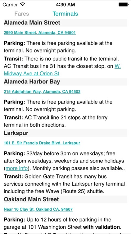 SF Bay Ferry Times screenshot-4