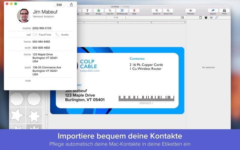 etiketten drucken auf dem mac