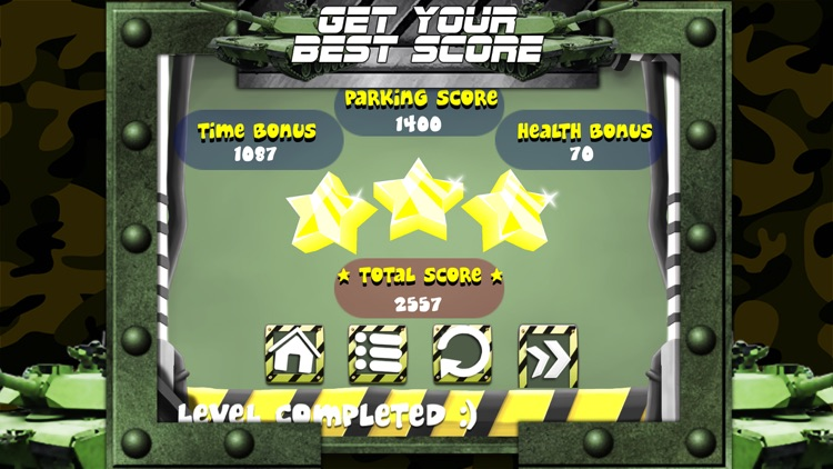 3D Army Tank Parking Game with Addicting Driving and Racing Challenge Games FREE screenshot-3