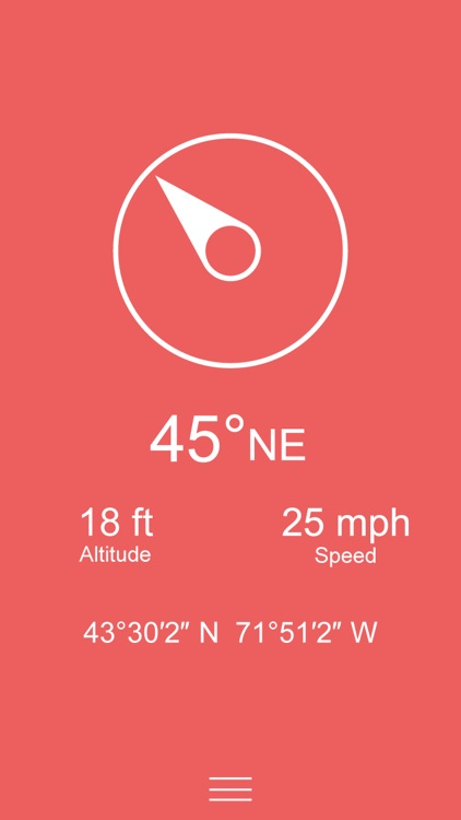 Compass Zen - Minimalist compass with altimeter, speedometer, and more screenshot-3