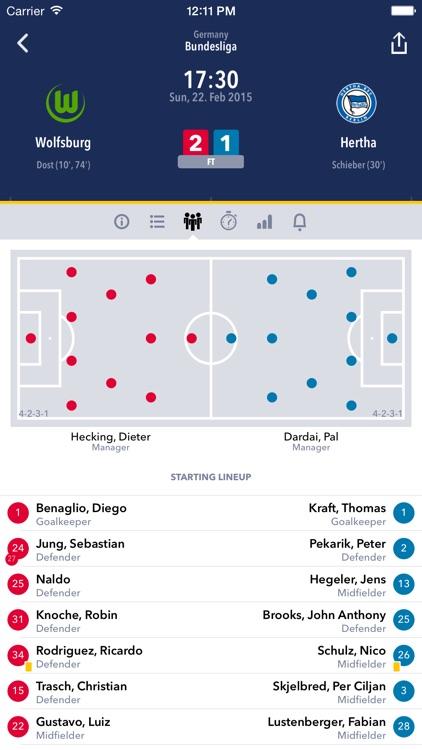 Mobile Live Score
