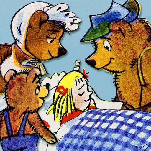Bajka o niedźwiedziach, niedźwiedziątku i o małym złotowłosym dziewczątku.