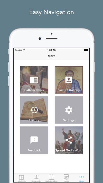 Screenshot for Catholic Bible: Bible with Catholic News and Saint a day, daily readings app for Catholics in Lebanon App Store