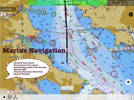 i Boating USA Nautical Marine Charts & Lake Maps