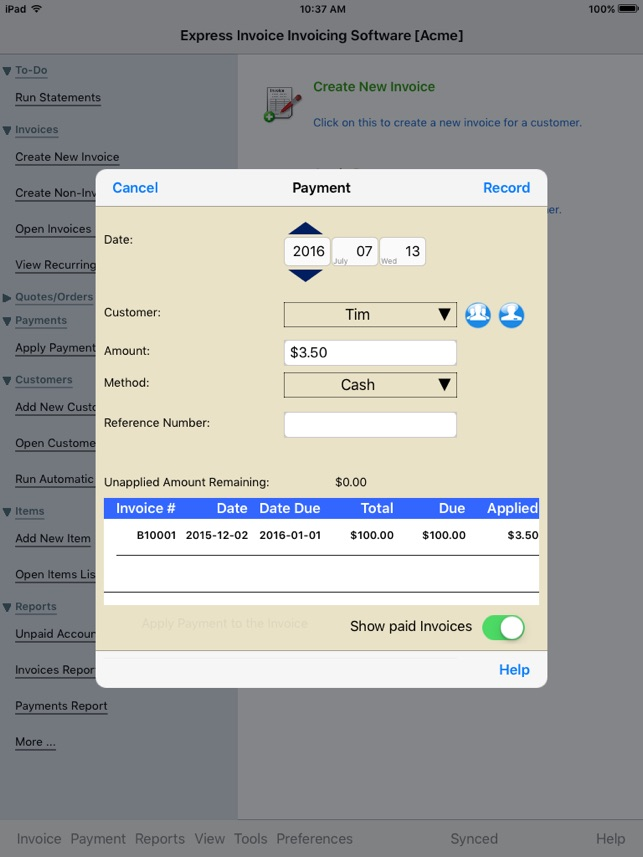 Express Invoice Invoicing Free On The App Store - Invoice software app