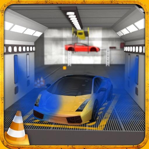 Multi-Level-Sportwagen Parkplatz Simulator 2:Auto-Lack Garage & realistische Fahr Spiel