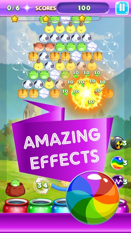 Amazing Farm Land Pet Pop Rescue 2016 - Newest World Bubble Shooter HD Mania Match Puzzle Classic Totally Free Game For Girls & Kids - Totally Addictive Fun Adventure screenshot-3