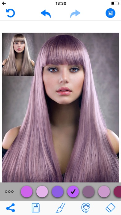 Screenshot for Hair Color Changer Salon Booth in United States App Store