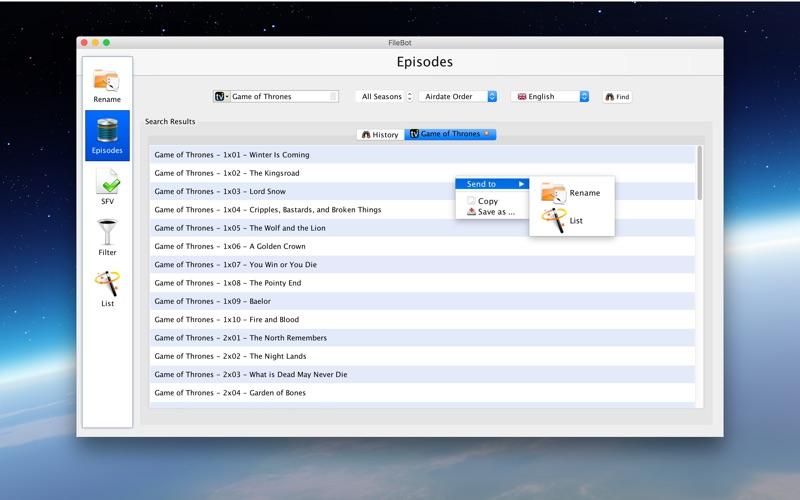 FileBot скриншот программы 4