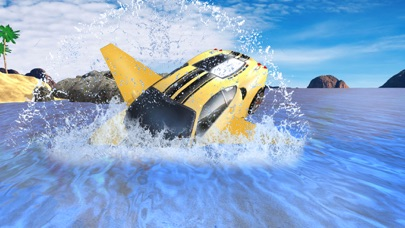Futuristic Flying Car Drive 3D - Extreme Car Driving Simulator with Muscle Car & Airplane Flight Pilot FREEのおすすめ画像4