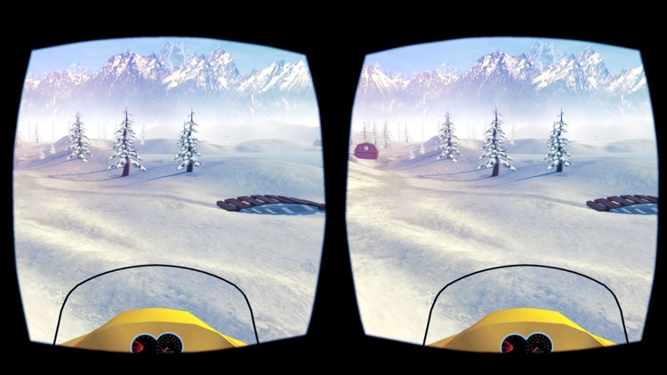 Snowmobile Simulator : VR Game for Google Cardboard screenshot-4