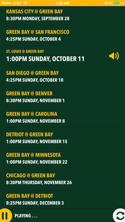 Green Bay Football Live - Radio, Score & Schedule
