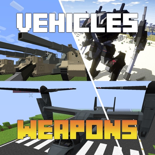 VEHICLES & WEAPONS MODS for Minecraft PC Edition - Pocket Guide