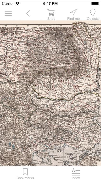 Balkan peninsula (1905). Historical map.