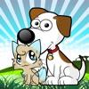 子供のぬりえかわいい猫と犬