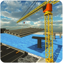 Bridge Builder Crane Operator – 3D city construction truck simulation game