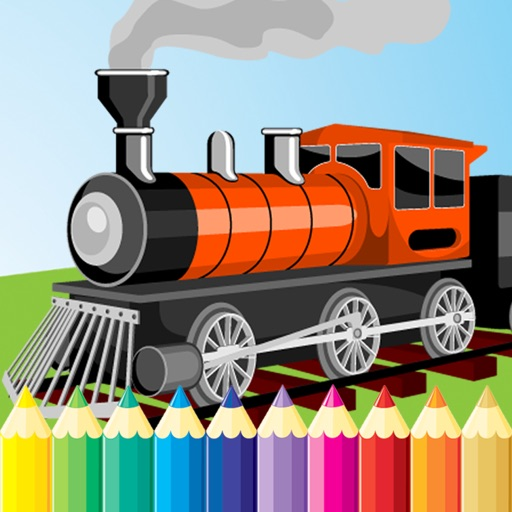 Train Coloring Book For Kid Vehicle Drawing Free Game