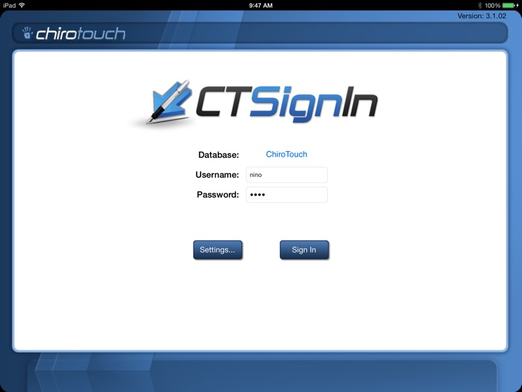 CT Sign-In Mobile 6.4