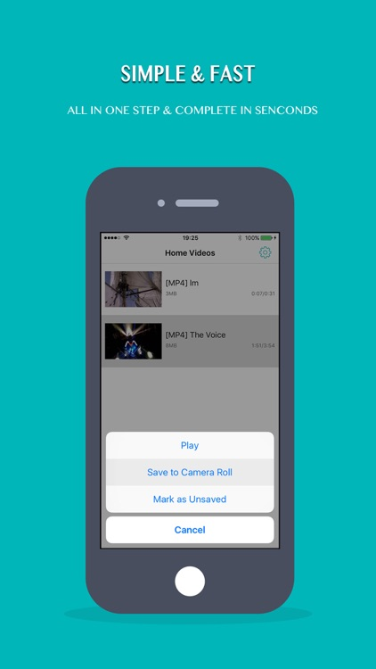 Save Home Videos to Camera Roll (Photos)