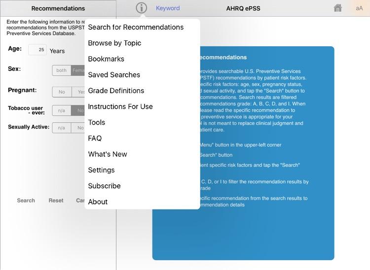 AHRQ ePSS for iPad screenshot-3