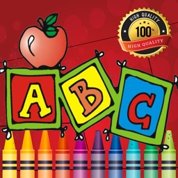 Preschool Easy Coloring Book - tracing abc coloring pages learning games free for kids and toddlers any age