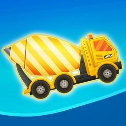 Fun Kid Racing City Builder: Bulldozer, Crane, Truck and Cement Mixer Drive