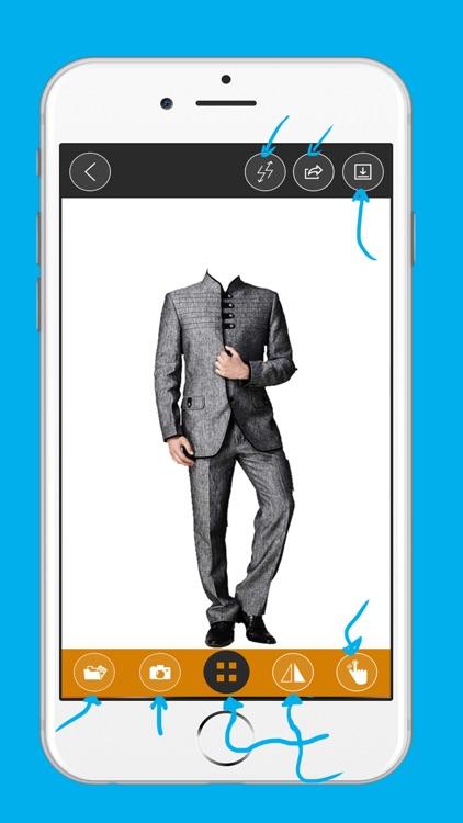 man fashion suit photo montage-Stylish Man Photo Suit