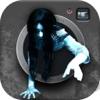 Spöke Foto! - Skrämmande Studio Redaktör Och Spöke Radar Med Fasa Anda Kamera