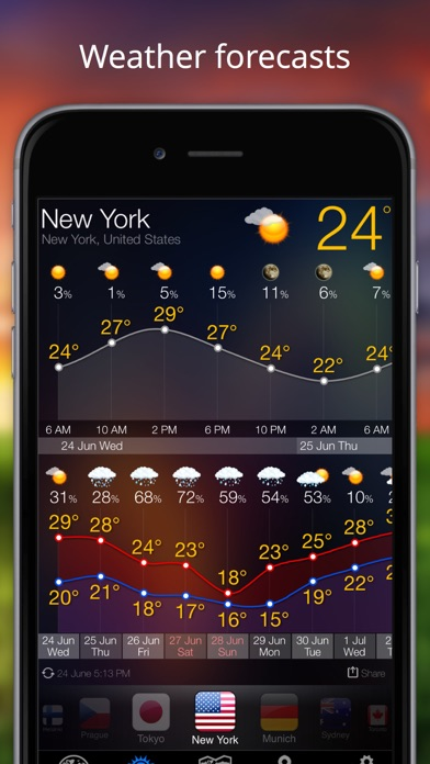 Weather Now - iPhone Forecast Screenshots