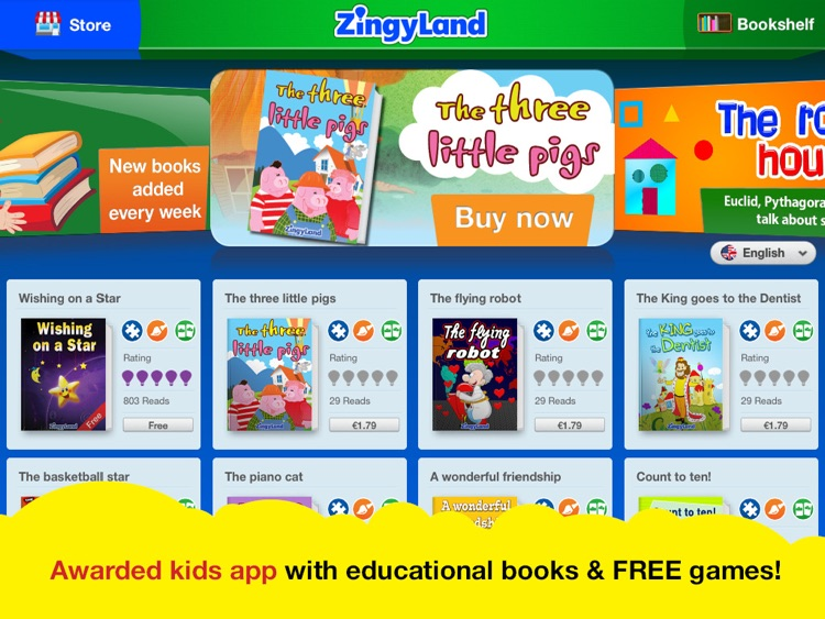 ZingyLand app - Safe Tales and Games for kids screenshot-0