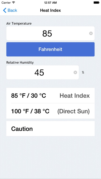 Weather Calculations - Heat Index, Wind Chill, Dew Point, and More screenshot-1